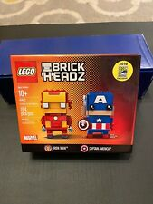 🔥RARE 2016 SDCC LEGO BRICKHEADZ IRON MAN & CAPTAIN AMERICA Exclusive 0993/1500