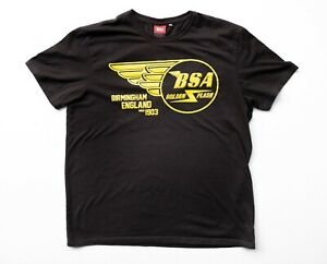 Men's BSA Golden Flash Birmingham England Since 1903 Dark Brown T Shirt Size M