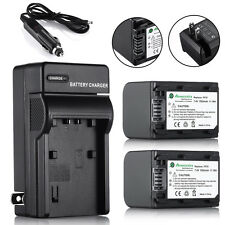 2pcs NP-FH70 Batteries + Charger For Sony NP-FH70 NP-FH60 NP-FH30 DCR-SX40 SX40R