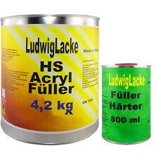 Acrylfüller 5kg GRAU im Set mit Härter Autolack Rostschutz Grundierung