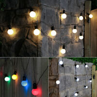 4.5m Battery Power LED Festoon Fairy Lights with Timer | Outdoor Garden Globe