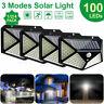 100 LED Solar Power PIR Motion Sensor Wall Lights Outdoor Garden Security Lamp-