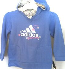 New with tags Girls Adidas FUTURE STAR Hoodie blue silver w/ hearts size sz 5