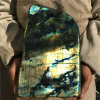 22.22LB Natural Labradorite Quartz Crystal Mineral Spectrolite Healing ST4608