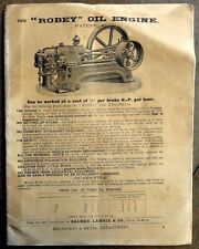 India BALMER LAWRIE 1930 illustrated  price list of engines & machines 38 pages