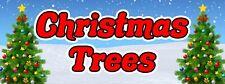 36� By 96� Vinyl Banner Christmas Trees Waterproof (outdoor) Grommet (4) Corners