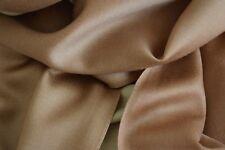 Seiden Schal in Gold Braun und Beige,Seidensatin - dezenter Glanz - toller Fall