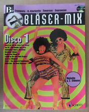 MANGEL Bläser Mix Disco 1 in Bb für Trompete Klarinette Tenor-Sax Noten mit CD