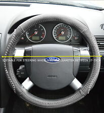 VAUXHALL FAUX LEATHER GREY STEERING WHEEL COVER