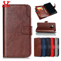 Leather Flip Full Cover Case For Samsung Galaxy A6 A7 2018 S9 Luxury Wallet Bags