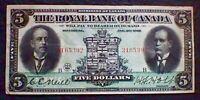 1913 ROYAL BANK OF CANADA 5 DOLLAR BILL