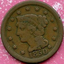 1850 (VG) 1C BRAIDED HAIR LARGE CENT