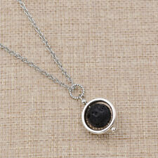 Fashion Lava Rock Necklace Beads Pendant Alloy Chain Women Charm Jewelry 1 Pc