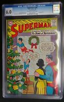"""Superman #166 DC Comic CGC 6.0 Christmas Cover """"The Sons of Superman"""""""