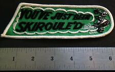 "VINTAGE SKIROULE SNOWMOBILE PATCH ABOUT 6"" X 2"" NEW UNUSED"