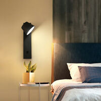 LED Wall Light Sconce Bedroom Bedside Living Room Night Reading Lamp with Switch