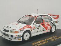 1/43 MITSUBISHI LANCER EVO III 1996 MAKINEN RALLYE IXO RALLY CAR ESCALA DIECAST