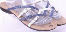 Orthaheel Weil Inspire Navy Buckle Strappy Slip On Flat Sandals Women's US 10