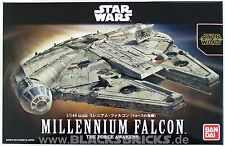 Star Wars modelo Kit, Millennium Falcon, 1/144, Bandai, Force awakens, Halcón