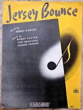 JAZZ SHEET MUSIC: JERSEY BOUNCE (1941) Tiny Bradshaw, Wright, Plater, Johnson