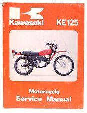 Kawasaki KE125 Motorcycle Service Shop Manual 99924-1010-01
