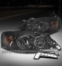 FOR 05-10 PONTIAC G6 GT SMOKE HEADLIGHTS LAMPS W/BUMPER LED DRL LEFT+RIGHT PAIR