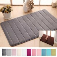 Memory Foam Mat Absorbent Slip-resistant Washable Pad Bathroom Shower Bath Mats
