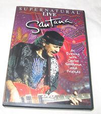 Santana Supernatural Live DVD, 2000, Pop Music, Musical Free Shipping U.S.A.