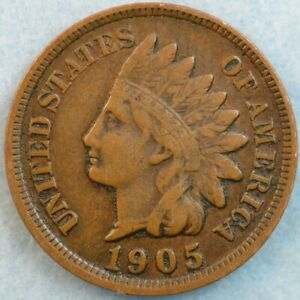 1905 Indian Head Cent Penny Very Nice Old Coin Fast S&H 492