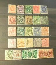 """(24) Vintage """"Great Britain"""" Stamps (1910's-1930's) =Used (Retail Value=$80.00)"""