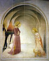Art Annunciation Early Renaissance Mural Ceramic Bath Backsplash Tile #2613