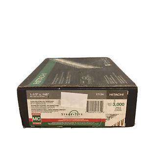 """Hitachi 17134 1-1/2x.148"""" Strap Tite Framing Galvanized Nails 3000 Per Case"""