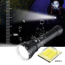 4000LM XHP70.2 LED Scuba Torch CREE Dive Flashlight 26650 Underwater Searchlight