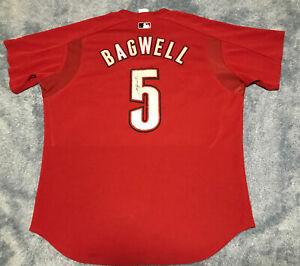 Houston Astros Jeff Bagwell # 5 Signed 2000s Batting Practice Jersey Size XL