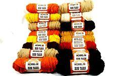 Lot of 16 Rolls Vtg Kodel Rug Yarn Assorted Colors Crafts Needle Point Knitting