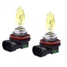 2x H8 Halogen 100W 12V Fog Light Bulbs Bright Yellow 3000K Xenon Replacements