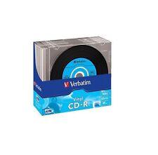 10 PZ CD-R VERBATIM VINYL in slim case 52x vinile 10 pezzi 43426 cdr cd -r