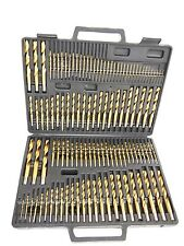 115PC HSS Titanium Coated  Drill Bits Set Number Letter
