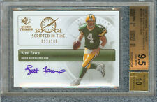 BRETT FAVRE 2007 SP ROOKIE THREADS SCRIPTED IN TIME 12/100 #SIT-BF BGS 9.5/AU 10