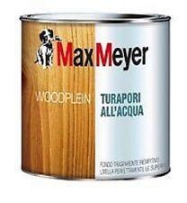 FONDO TRASPARENTE Turapori all'acqua MAX MEYER PER LEGNO 0,75 litri INCOLORE