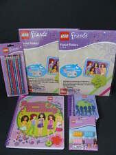 LEGO Friends School Supply Lot Folders Spiral Notebook Paper Pencils Erasers NEW