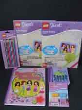 LEGO Friends School Supply Lot Folders Spiral Notebook Paper Pencils Erasers NEW