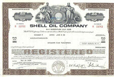 USA famous SHELL Oil Company 1978 debenture for 25.000 Deco