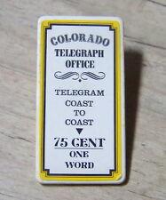 PLAYMOBIL (B602) GARE COLORADO SPRING 3770 - Panneau Affiche Bureau Télégraphe