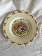 Vintage Royal Doulton  Bunnykins Happy Birthday Child'S Plate Circa 1936