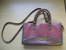 "Ladies Handbag Jackson, brown/burgundy synthetic, shoulder bag, 13x7.5x4"" 3376"