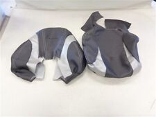 LARSON FX FISHING SEAT SKIN SET OF (2) 2016 GRAY / SILVER MARINE BOAT