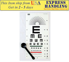 """Tumbling """"E"""" Eye Test Chart with Occluder (Set of 2)"""