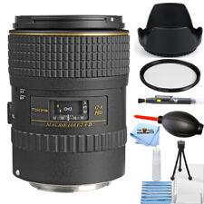 Tokina 100mm f/2.8 AT-X M100 AF Pro D Macro Lens for Canon EOS Starter UV Bundle