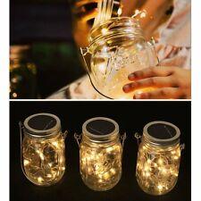 Outdoor Solar Power Lantern Light Hanging Light 20Led String Fairy Firefly Lamps